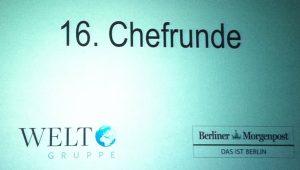 2012 in der 16. Chefrunde noch vereint: Welt & Berliner Morgenpost