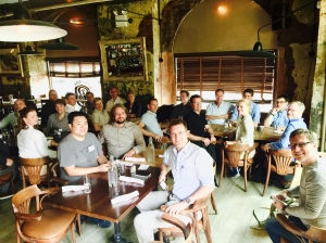 5.crusa15_NYC: Work-Lunch mit podcast-Macher Alex Blumberg und Matthew Lieber (Gimlet)