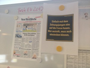 cr: Pinwand im NW-Newsroom