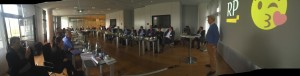 Die 25. Chefrunde mit Gastgeber Michael Bröcker (4.v.r.), RP-Chefredakteur