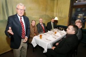 Verleger Dirk Ippen beim Dinner Talk der 17. Chefrunde in Kassel 2010.